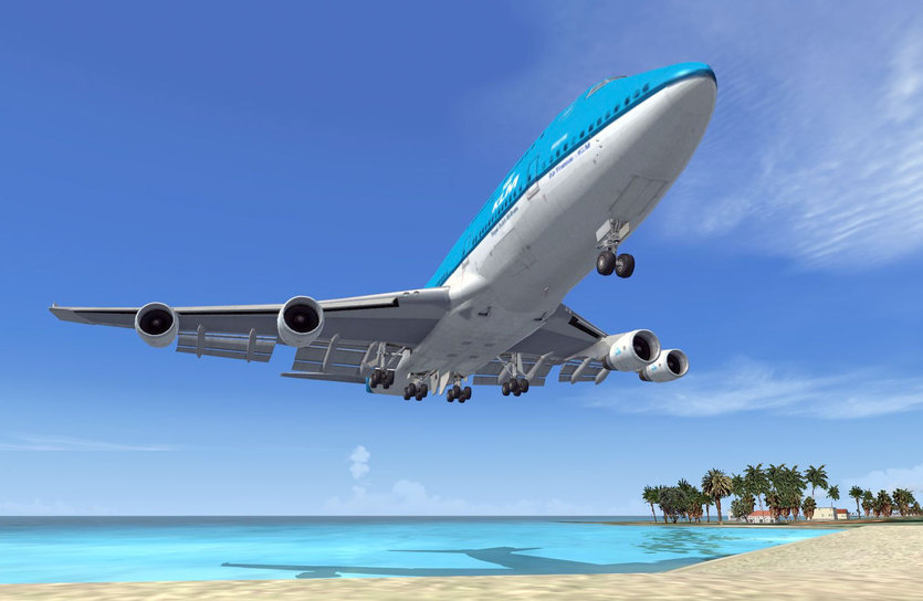Paris-air-show-microsoft-flight-simulator-boeing-747-landing-at-st-maarten-airport